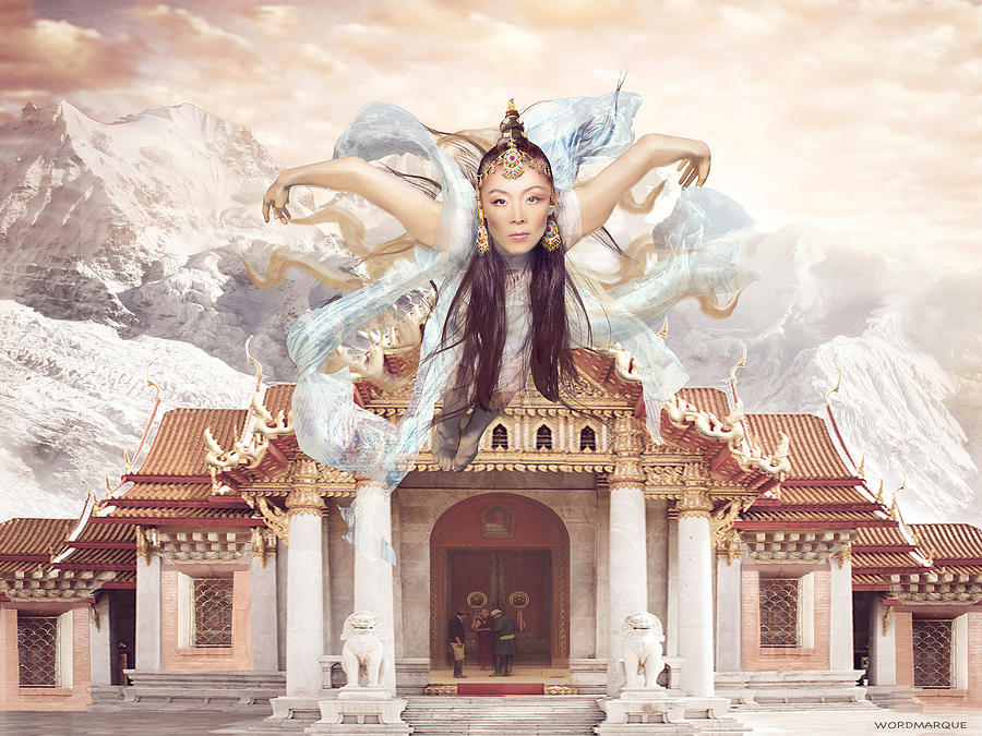 Flying Mystic Mixed Media - Flying Mystic Fine Art Print