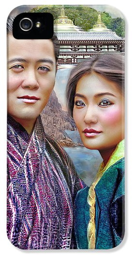 Beloved Dragons The King And Queen Of Bhutan  iPhone5 Case